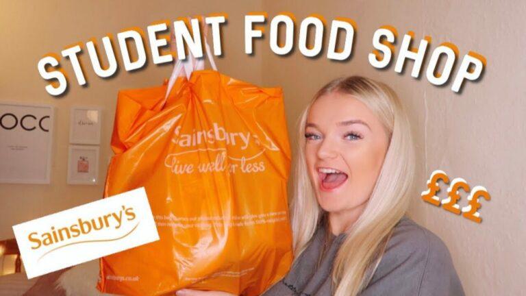 Student budget food shopping Nottingham