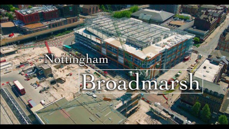 Broadmarsh site aerial view drone #notts