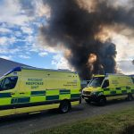 Huge Fire at Nottingham Scrap yard