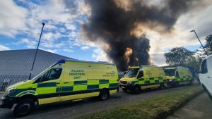Huge Fire at Nottingham Scrap yard
