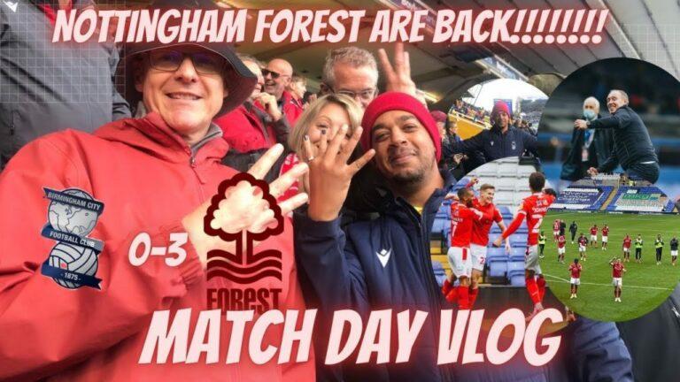 Nottingham Forest vs Birmingham City #nffc #vlog